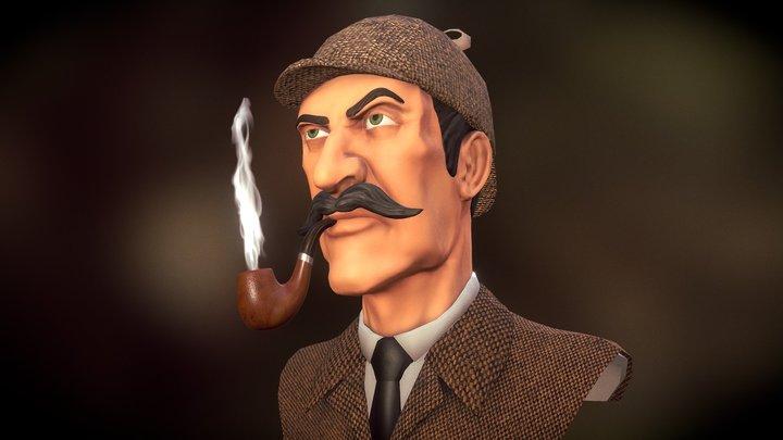 Sherlock Holmes 3D Model