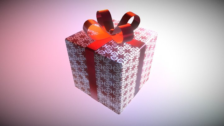 Game Ready Present 2 Low Poly 3D Model