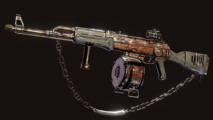 Kalash - Steampunk AK-47 3D Model