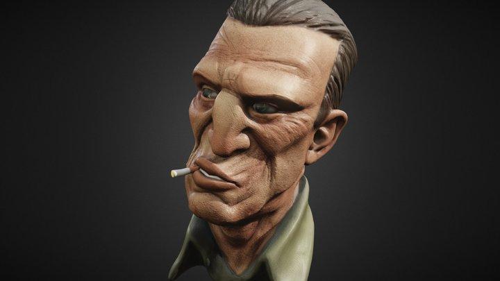 Smoking Man 3D Model