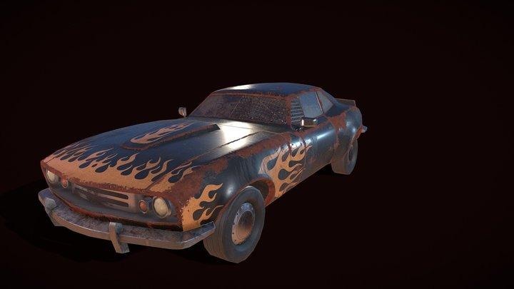 Derby car. Free 3D Model