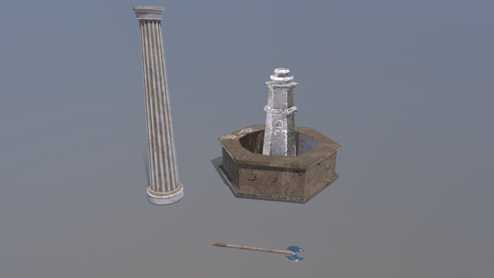 Themed Props 3D Model