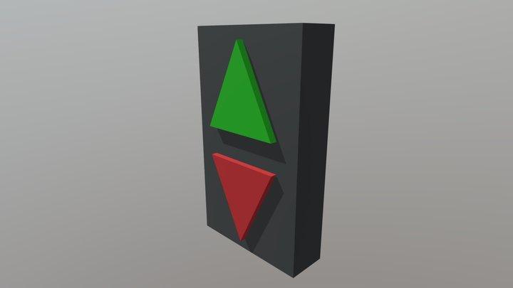 Bouton-ascenseur 3D Model