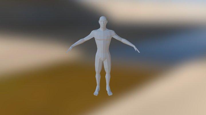 Low Poly Male 3D Model