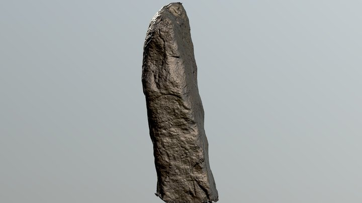 Rosskeen Pictish Symbol Stone AKA Thief's Stone 3D Model