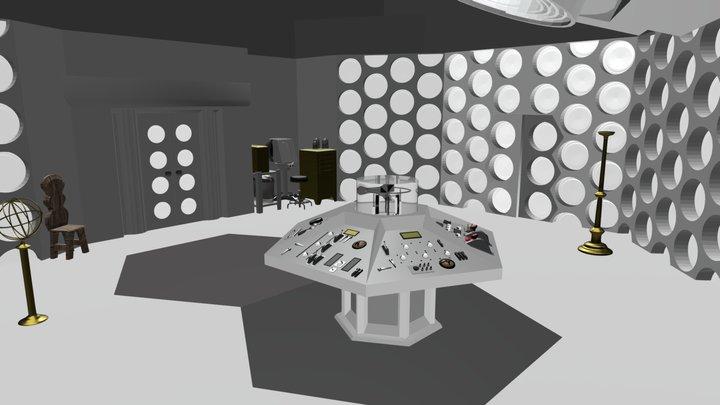 Hartnell's TARDIS Console Room 3D Model