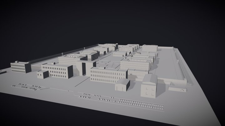 Onsu Facility #1 Tier 3 Detention Centre 3D Model