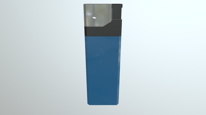 Low poly Basic Lighter 3D Model