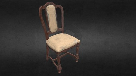 Classic Chair (old & worn) 3D Model