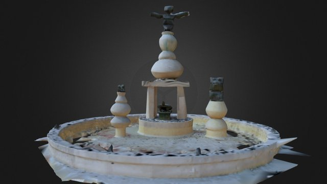 Fontaine Max Ernst - Amboise - 1st try 3D Model