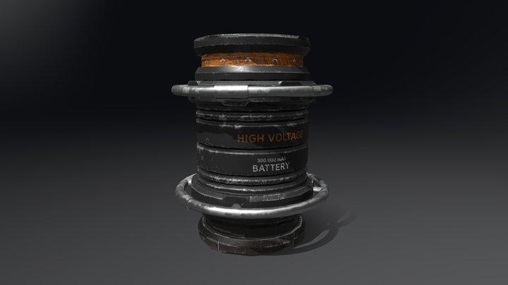 Sci-fi Battery 3D Model