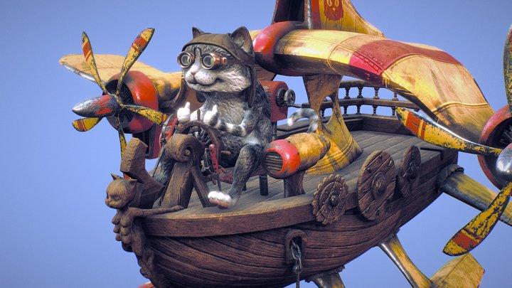 Cat Ship 3D Model