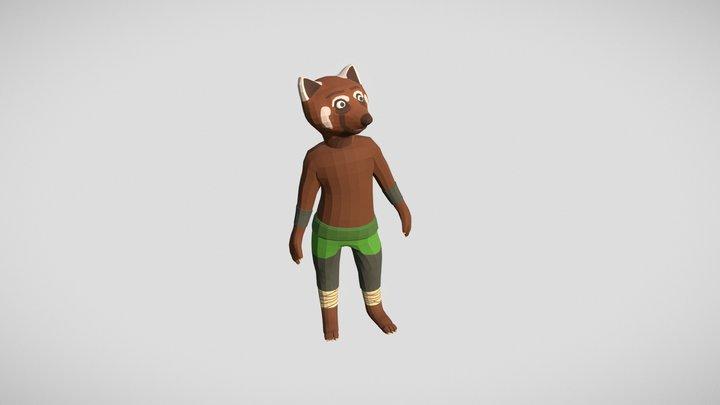 Orshu - Red Panda 3D Model