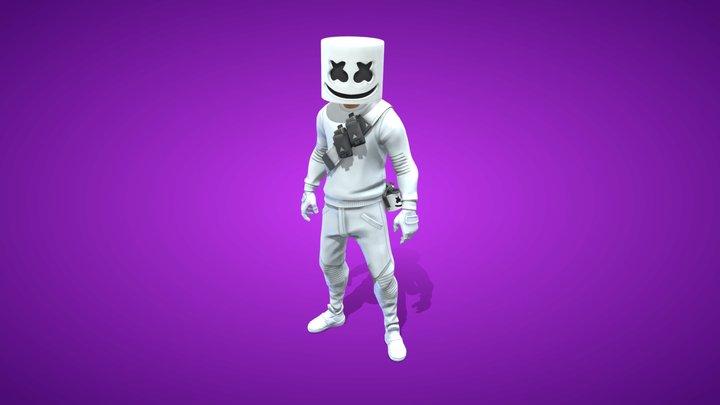 Marshmello Outfit - Fortnite 3D Model