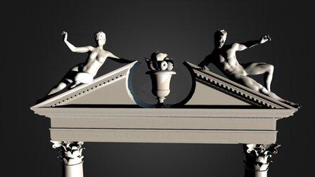 Pediment Hi Res 3D Model