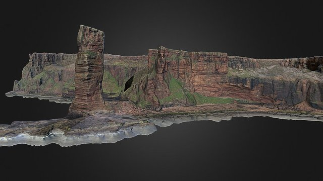 The Old Man of Hoy, Orkney 3D Model