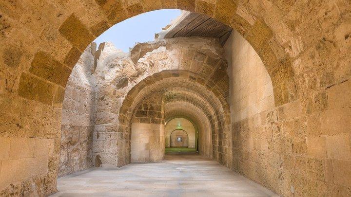 Qaitbay Fort_Tunnel_Lower Egypt 3D Model