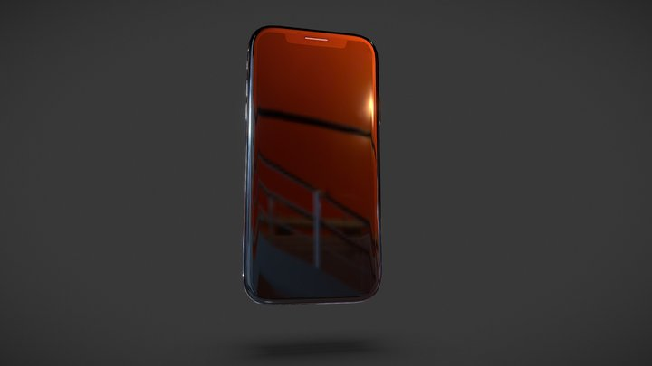 IPHONE X LOWPOLY 3D Model