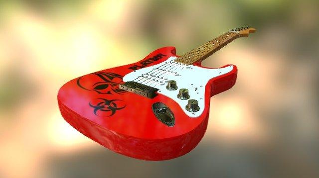 Guitarra Fender 3D Model