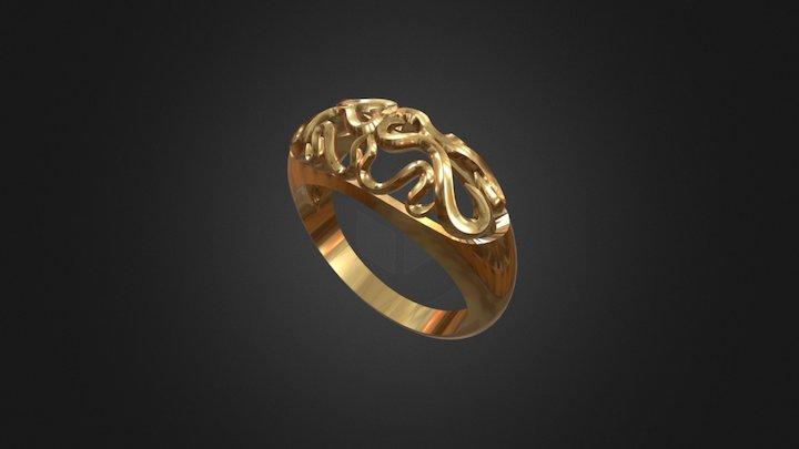 Golden Ring Test 3D Model