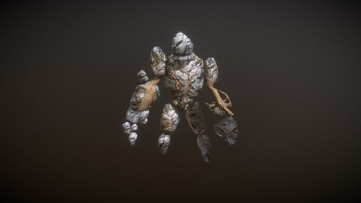 Earth Elemental 3D Model
