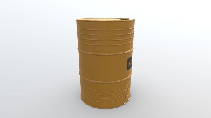 Liquid Barrel 3D Model