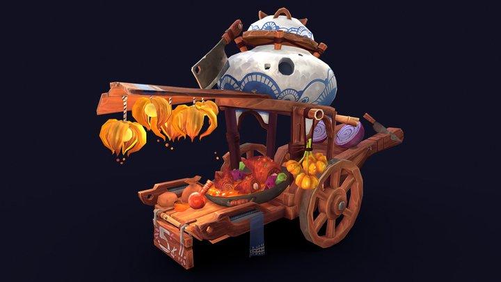 Hot Pot Wagon 3D Model