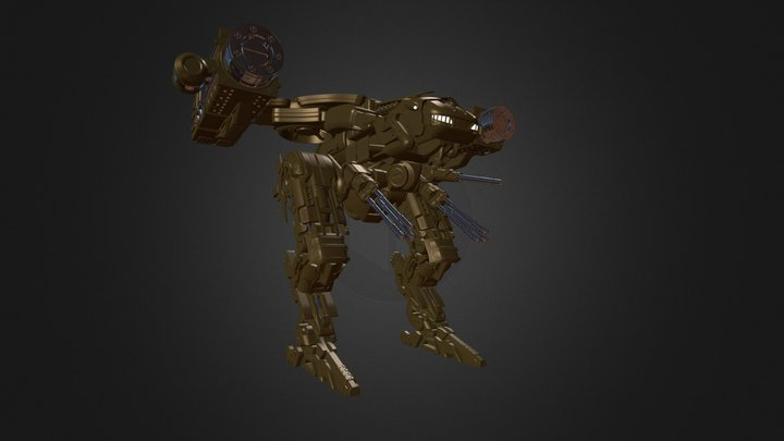Battle Mech 3D Model