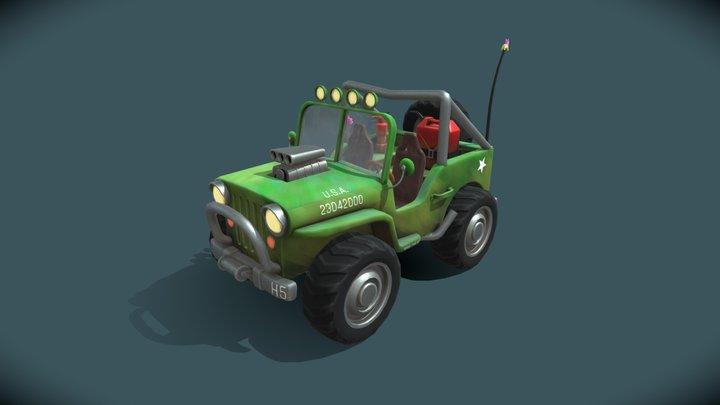 Stylized Jeep 3D Model