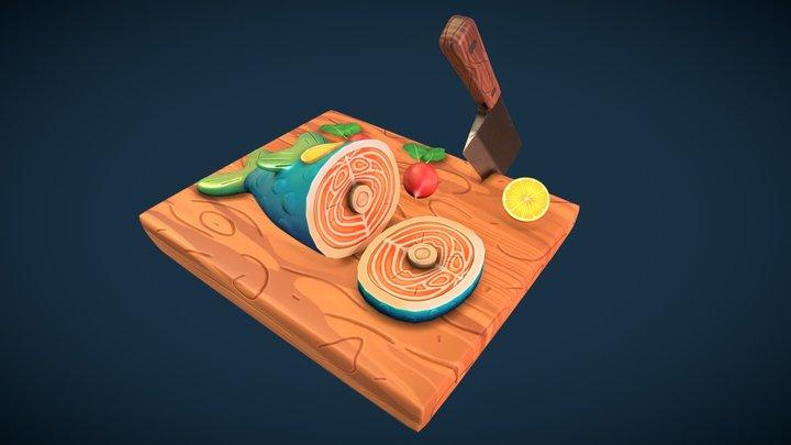 Delicious Fish Game Asset 3D Model
