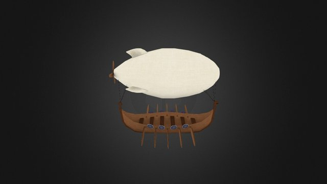 Viking Airship 3D Model