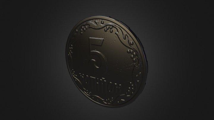 Ukrainian coin.  3D Model