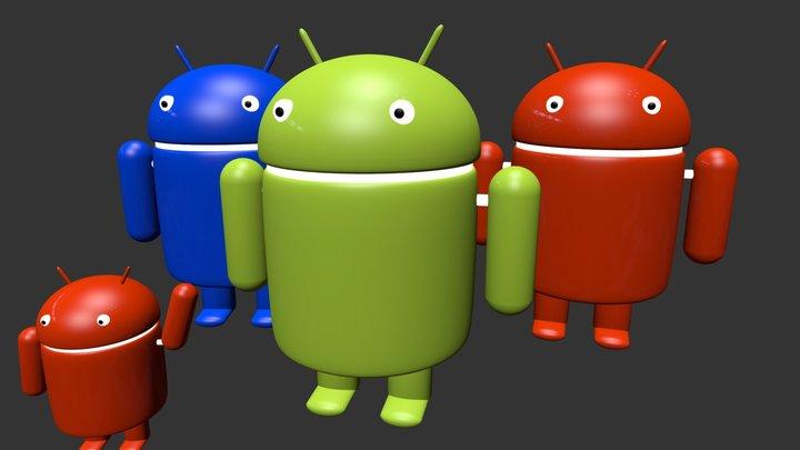 Familia Android 3D Model