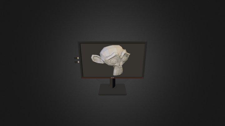 Asus PA238Q 3D Model