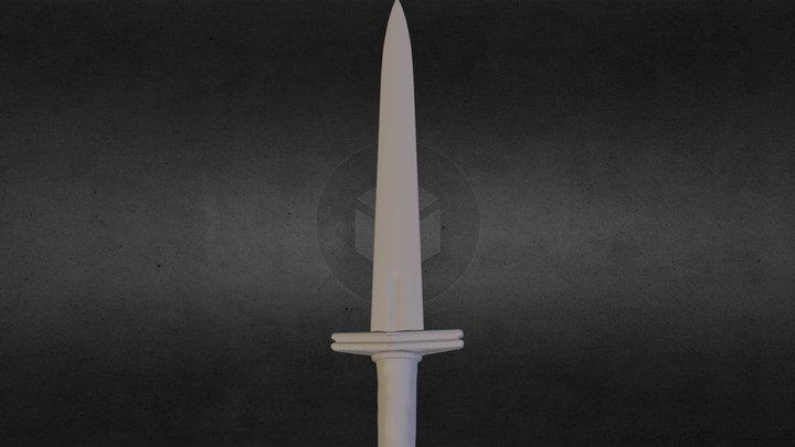 Dwarf Dagger *Untextured* 3D Model