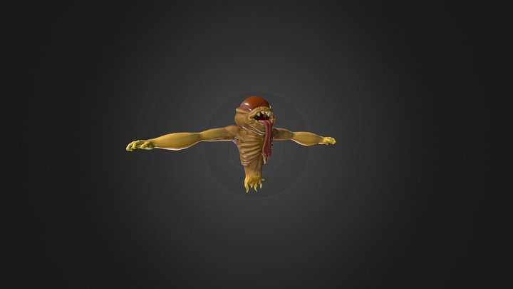 Sticky Monster Character - Junior Collab LP 3D Model