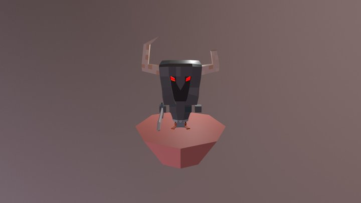 Hades Lowpoly 3D Model