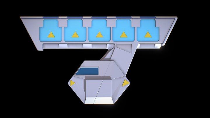 Yugioh Sevens Duel Disk Test 3D Model