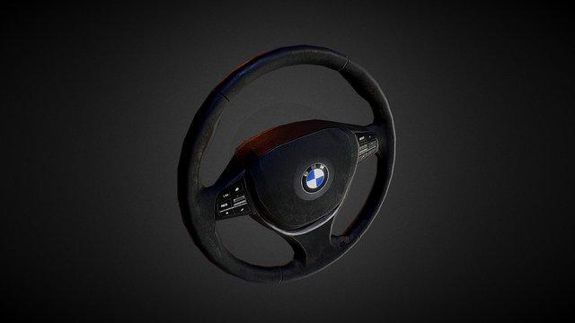 BMW 5-Series Steering Wheel 3D Model