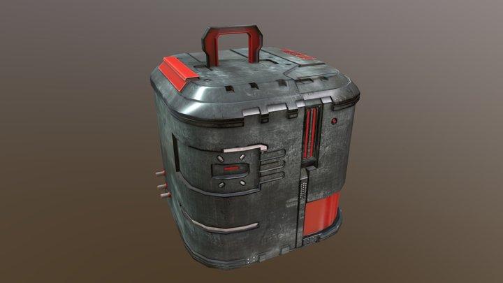 Box Sci-Fi 3D Model