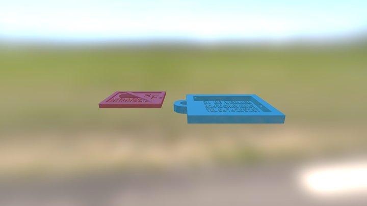 Portillon Sf Metal Key 3D Model
