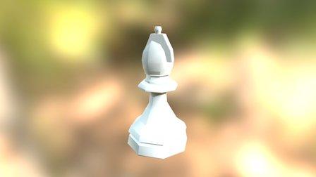 Low Poly Bishop 3D Model