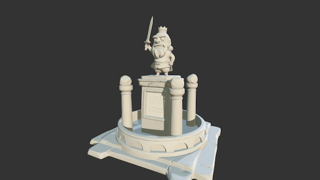 City of Arcadia Fountain 3D Model