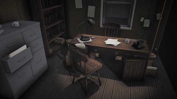 Investigator Office (Colored Version) 3D Model