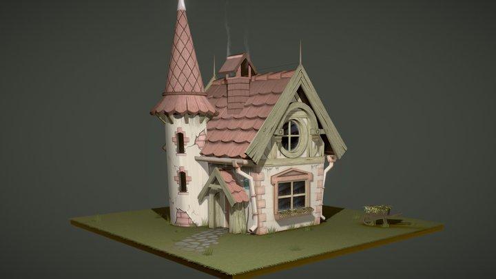 Fairytale Cottage 3D Model