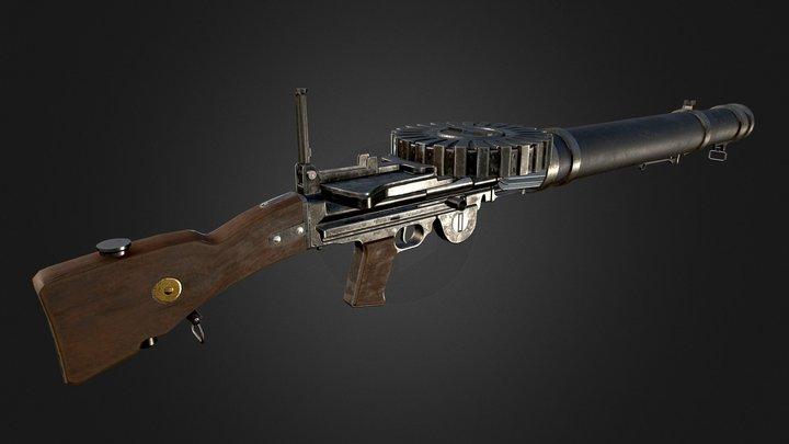 The Lewis Gun 3D Model