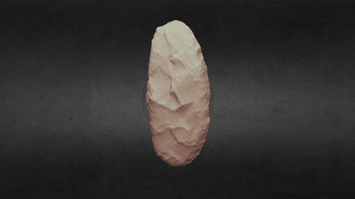 Chipped Stone Knife 3D Model