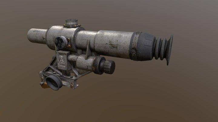 1OP50 SSP Russian Machine gun Scope 3D Model