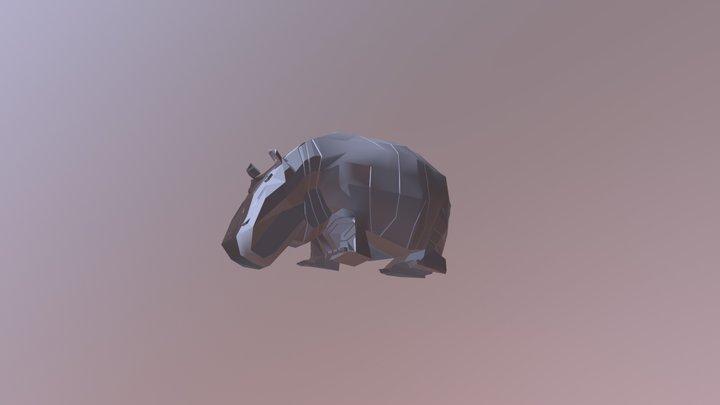 Low poly hippopotamus 3D Model