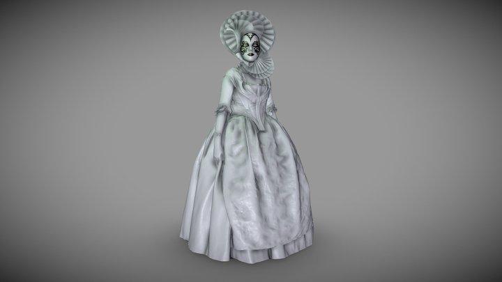 Venetian lady 3D Model